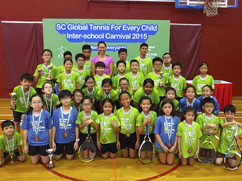 The first Tennis For Every Child Inter - School Tennis Carnival