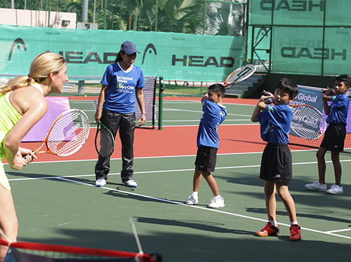 Tennis Clinic with former World No.19 WTA Player Yayuk Basuki